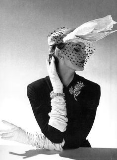 The bird! The brooch! the bracelets! Marvelous one and all. #vintage #hat #fashion #1950s