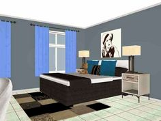 I've been playing and experimenting on this tool I found via Interior-Design-it-yourself and I must say, as an Interior Design. Interiores Design, Fire, Bedroom, Ballerina, Furniture, Home Decor, Decoration Home, Ballet Flat, Room Decor