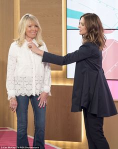 Helping hand: Trinny used her special expertise to advise a woman on how she…