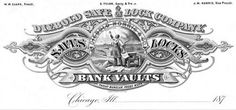 Diebold Safe & Lock Company, Letterhead from the 1800s