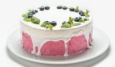 Rezept für eine leichte Low Carb Heidelbeer-Joghurt-Kühlschranktorte - kohlenhydratarm, kalorienarm, ohne Zucker und Getreidemehl