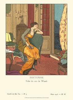 Evening Dress by House of Worth, Gazette du Bon Ton, 1913