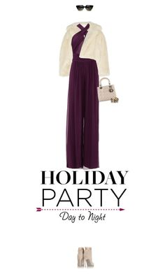 """Day to Night: Holiday Partayyy 2"" by missioppa ❤ liked on Polyvore featuring Toga, Rachel Zoe, Christian Dior, Sergio Rossi, HIRSCHELL, contestentry and HolidayParty"