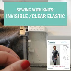 Invisible clear elastic is great for stabilizing a boat neckline when sewing jersey fabric. In this video I show you how.