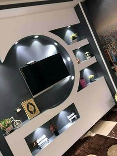 Lcd Wall Design, Front Wall Design, Feature Wall Design, House Ceiling Design, Ceiling Design Living Room, Tv Unit Furniture Design, Tv Unit Interior Design, Interior Ceiling Design, Wall Unit Designs