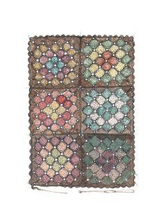 """""""Bestemorteppe"""" (Norwegian crochet blanket)  Copyright: Emmeselle.no   illustration by Mona Stenseth Larsen"""
