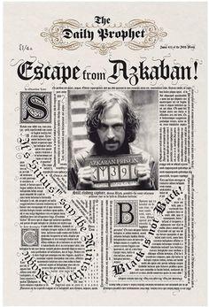 Harry Potter Daily ProphetTM Escape From Azkaban Premium Print, White