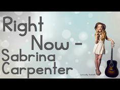Right Now By Sabrina Carpenter With Lyrics Original Audio (No Pitch) Comment Any Song Suggestions Below I Do Not Own This Song ------------------------------. Aaron Carpenter, Sabrina Carpenter, Girl Quotes, Funny Quotes, Song Suggestions, Skai Jackson, Jennette Mccurdy, Disney Music, All Songs