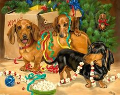 mom, i think santas elves accidentally broke in and somehow opened all of our presents... silly elves!