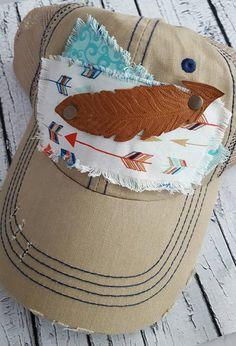 Feather Trucker Cap  Feather and Arrow Baseball Cap