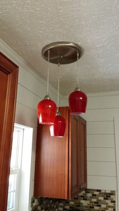 [d]Refurbished candle holders into pendant globes.[/d][d][br][/d][d][br][/d] [d][br][/d][d][br][/d][d]Typical globe replacements run around $20 each. [/d][d][br…