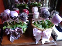 Manzanas de chocolate decoradas