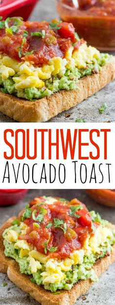 Perfect for breakfast, lunch or dinner this Southwest Avocado Toast has a eggs, avocado and salsa kicking it up a notch with every bite!