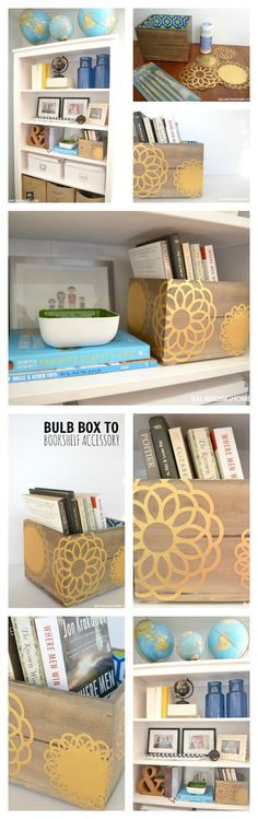 Dressing up this bulb box would be a perfect DIY holiday gift.