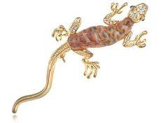 Golden Tone Fun Crawl Gecko Acrylic Bodied Crystal Rhinestone Critter Pin Brooch Alilang,http://www.amazon.com/dp/B0032RW83U/ref=cm_sw_r_pi_dp_3fohtb1DX5GPTAA4