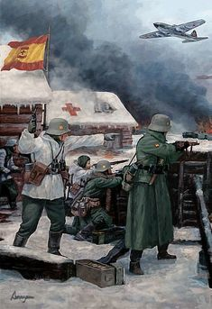 Military Diorama, Military Art, Military History, German Soldiers Ww2, German Army, Diorama Militar, Eastern Front Ww2, War Novels, Military Drawings