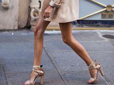 tan // ankle straps