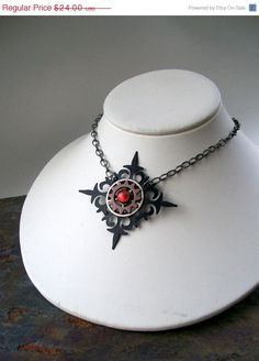 Journey  Neo Victorian Steampunk Necklace Gothic by KeyholeGallery, $20.40