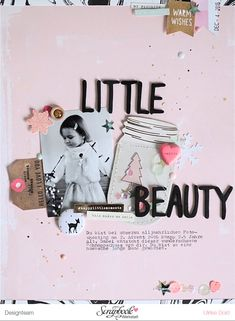 Layout *Little Beauty* - SBW Winter-Badges & Crate Paper *Snow and Cocoa* - von Ulrike Dold