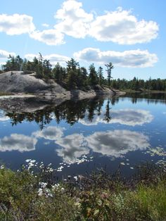 Clouds at Grundy Lake Provincial Park, breathtaking! Rocky Shore, Lake Cabins, Lake Park, Tent Camping, Landscape Photos, Ontario, National Parks, Places To Visit, Clouds