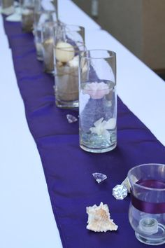 Brought a little bit of the beach to the table through the centerpieces