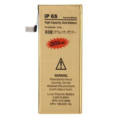 [$3.99] iPartsBuy 28500mAh High Capacity Gold Rechargeable Li-Polymer Battery for iPhone 6s