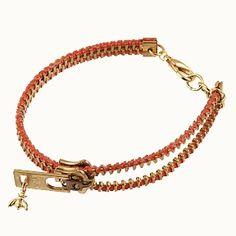 Bee Charming Orange Zipper Bracelet