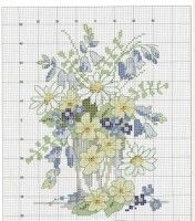 Ideas For Embroidery Stitches Flowers Free Pattern Charts Counted Cross Stitch Patterns, Cross Stitch Charts, Cross Stitch Designs, Cross Stitch Embroidery, Embroidery Patterns, Cross Stitch Pictures, Cross Stitch Flowers, Cross Stitching, Needlework