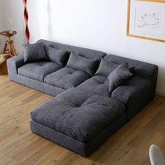 コスタ3P:(FABRIC)グレー Home Decor Bedroom, Decor, Furniture, Living Room Sofa, Sectional Couch, Welded Furniture, Home Decor, Room Decor, Wooden Sofa Set