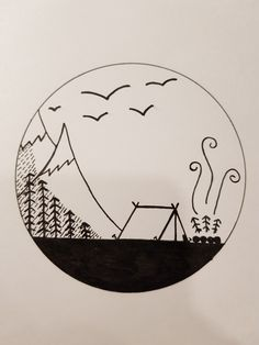 Mini Drawings, Art Drawings Sketches Simple, Pencil Art Drawings, Girl Drawing Sketches, Cool Simple Drawings, Easy Nature Drawings, Space Drawings, Tattoo Sketches, Tattoo Drawings