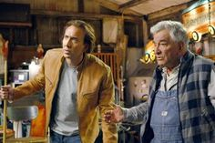 Nicolas Cage and Peter Falk in Next Nicolas Cage, Columbo Peter Falk, Jessica Biel, Cinema, Film, Sang, Images, Search, Movie