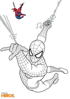 14 Prestigieux Coloriage Spiderman A Imprimer Pics Check more at www. Avengers Coloring Pages, Spiderman Coloring, Superhero Coloring Pages, Marvel Coloring, Cartoon Coloring Pages, Coloring Pages To Print, Coloring Book Pages, Spiderman Sketches, Marvel Drawings