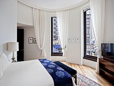 The NoMad Hotel New York City, New York Bedroom City Hip Hotels Luxury Luxury Travel NYC Offbeat Romantic Hotels Trip Ideas property home living room cottage Suite textile