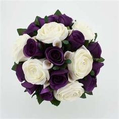 Wedding Bouquet Purple Silver | Wedding Flowers @Kaitlyn Marie Marie Marie Diehl Miller