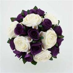 Wedding Bouquet Purple Silver | Wedding Flowers