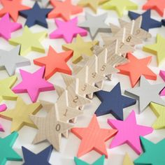 Tanabata 100 Wooden Star Domino Set