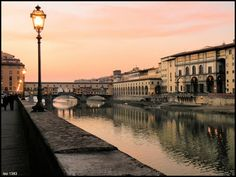 Along the Arno at sunset