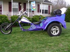 Great Color ! Vw Trike, Scooters, Baby Strollers, Motorcycles, Brunch, Bike, Purple, Children, Vehicles