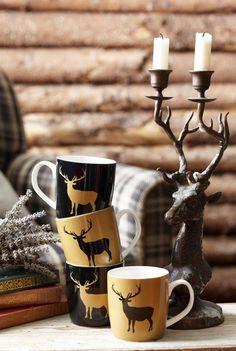ev dekorunda geyik desenleri kullanimi aksesuar kumas ve geyik kafalari (6)
