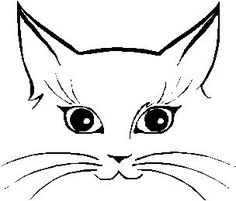 cat face sketch - Google Search and like OMG! get some yourself some pawtastic adorable cat shirts, cat socks, and other cat apparel by tapping the pin!