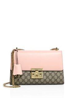 GUCCI Medium Padlock Gg Supreme Leather Shoulder Bag. #gucci #bags #shoulder bags #lining #canvas #suede #