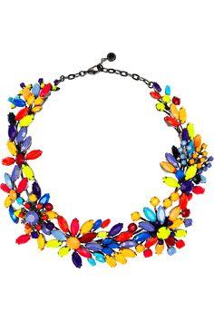 Tom Binns|Riri painted Swarovski crystal necklace|NET-A-PORTER.COM