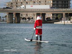 The Paddle Board Santa- Destin Harbor, Destin, FL Sup Stand Up Paddle, Photo Upload, Paddle Boarding, Santa, Journey, Christmas, Photos, Photography, Xmas