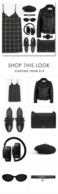 """Leather Jackets 3"" by risdanasuha ❤ liked on Polyvore featuring Monki, Acne Studios, Max&Co., Chanel, Master & Dynamic, Venus, Betsey Johnson, Topshop, monochrome and allblack"