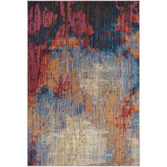 Beckett Rust & Blue 8x10 Rug