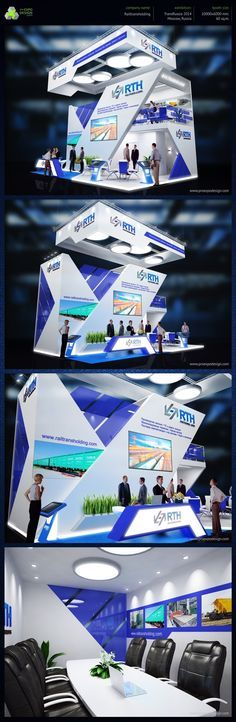 Rail Trans Holding exhibition booth design on Behance