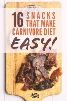 The carnivore diet is an all meat diet. What does that leave for snacks? We show you our favorite 19 carnivore diet style snacks and ideas! Healthy Food List, Healthy Diet Plans, Diet Meal Plans, Healthy Fats, Healthy Eating, Low Carb Recipes, Diet Recipes, Meat Diet, Easy Diets