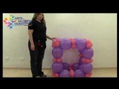 Curso de Globos. Portarretrato en Globos. Picture Frame In Balloons (+pl...