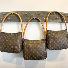 Three's Company!   Shop these Louis Vuitton Looping MM Shoulder bags NOW on www.mymoshposh.com!