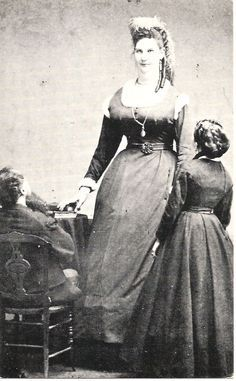 """Back in 1879, Anna Bates (a giantess at 7' 5½"""") gave birth to the longest and heaviest baby that Guinness has on record. The baby, born in Seville, Ohio, weighed in at 23 pounds, 12 ounces and measured 30 inches long. Sadly, the baby boy passed away just 11 hours after being born."""